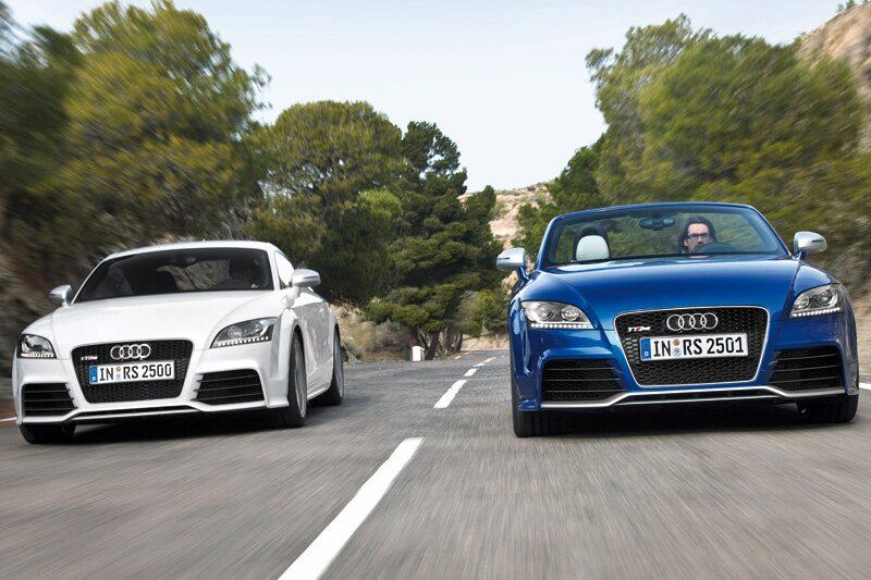 Provkörning av Audi TT RS Coupé och Roadster