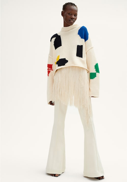 H&M Studio SS18: Fransar, vitt och vida ben.