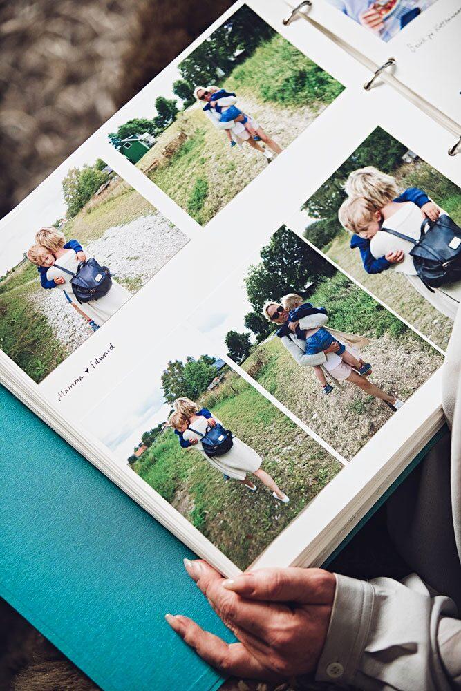 Fotoalbumet är en viktig del av minneslådan som Edward ska ha för att minnas sin mamma.