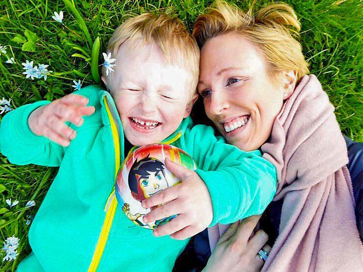 Kerstin med sonen Edward