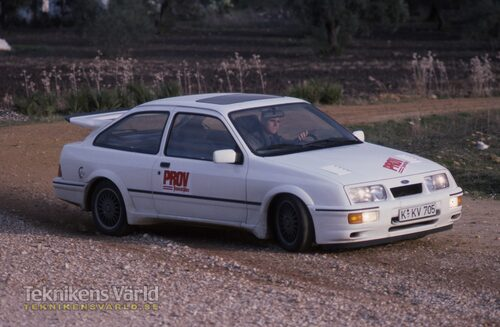 Ford Sierra RS Cosworth på sladd.