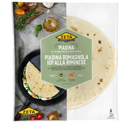 Zeta Piadina Romagnola IGP alla Riminese. Eller kort och mycket gott: Piadina. En utsökt streetfood från Italien som seglar upp som en mattrend just nu.