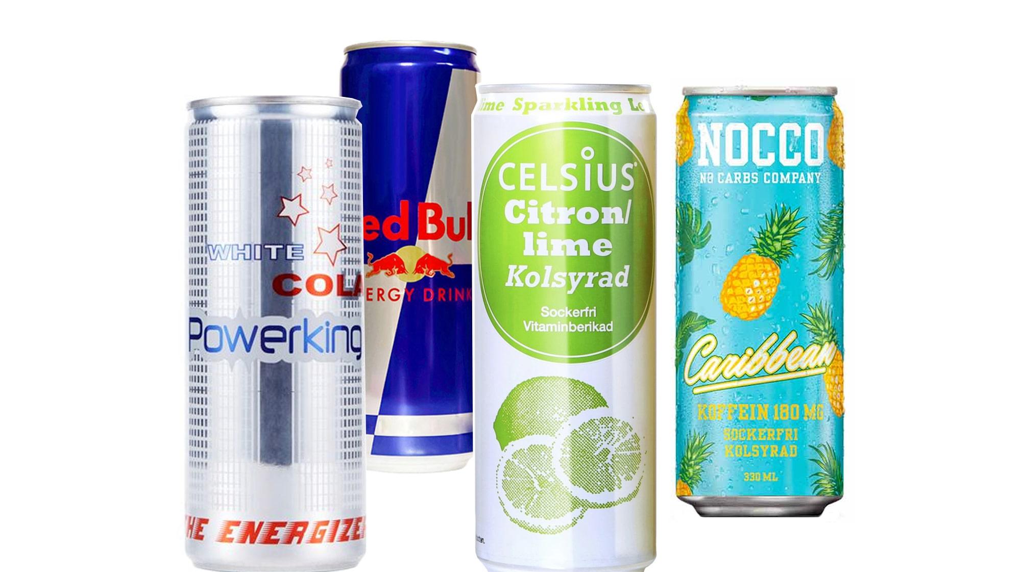 energidryck med mest koffein