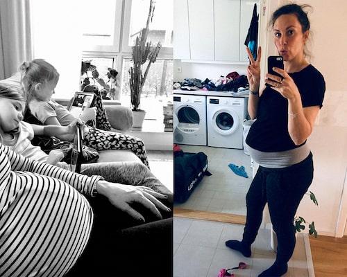 Louise Winblad, aka Hej Hej Vardag, är gravid! Systrarna Märta och Maja vill att bebisen ska heta Baby.