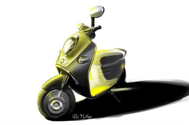 Mini E Scooter Concept.