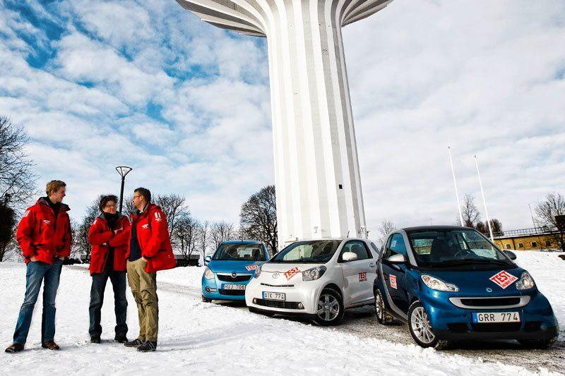 Opel Agila, Toyota iQ och Smart Fortwo