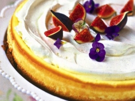 <p>Vit chokladcheesecake.</p>