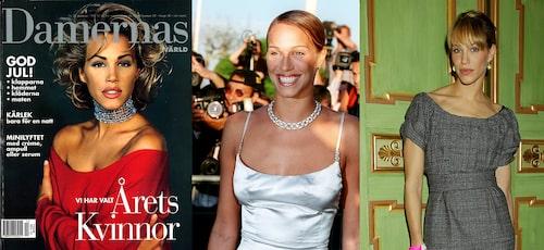 T.v.: Emma i 20 års-åldern, Emma i 30 års-åldern och Emma i 40 års-åldern.