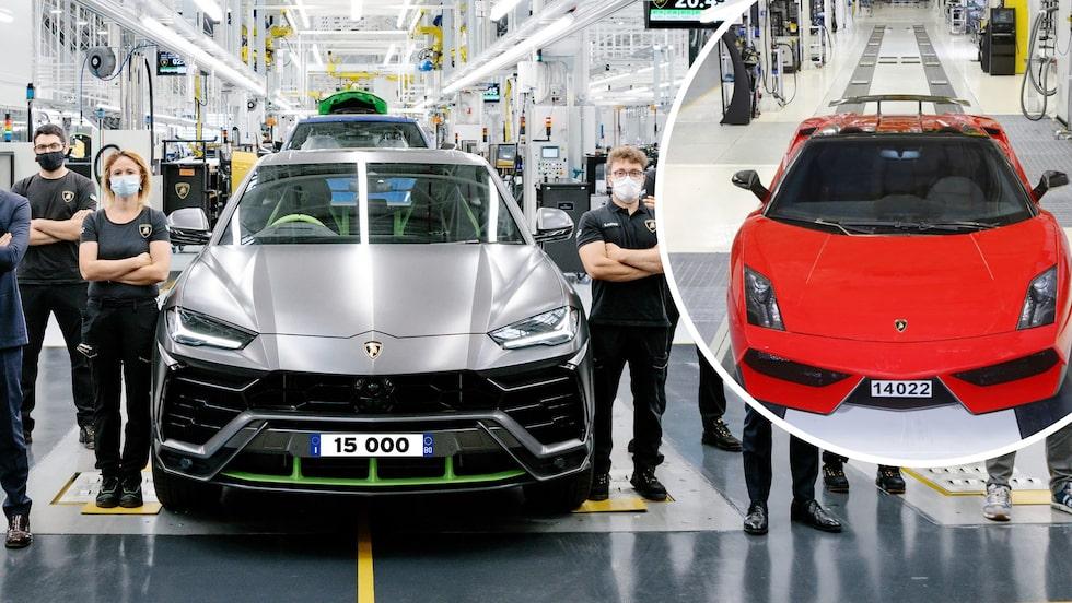 """15 000 exemplar av suven Lamborghini Urus som alltså har passerat """"storsäljaren"""" Gallardo."""