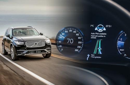 Volvo ligger i framkant sett tillutvecklingen av autonoma bilar, något som också syns i studien.