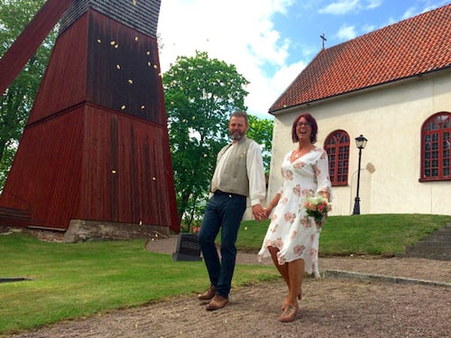 Bild från bröllopet: Annika och Magnus var gifta i fyra år.