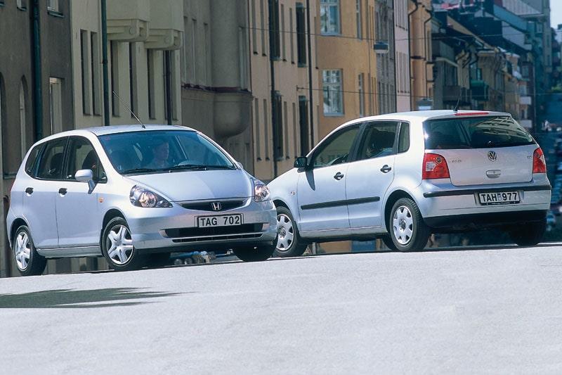 Provkörning av Honda Jazz mot Volkswagen Polo
