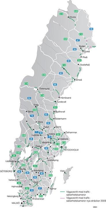 Hela Sverige. Bläddra vidare för länsvis.