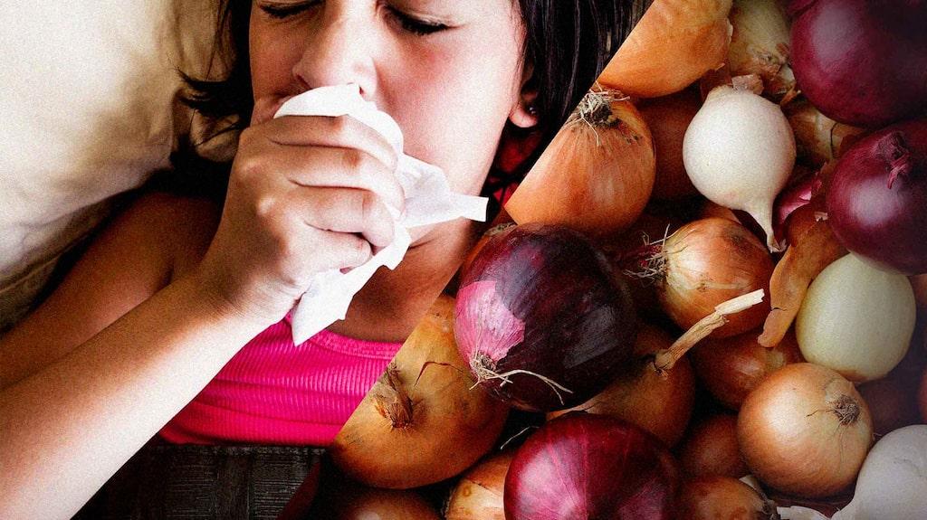 Det finns många smarta husmorsknep mot hosta. Att använda lök är ett av dem.