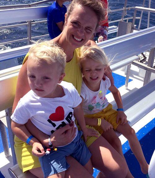 Lisa med August, snart 4, och Greta, snart 6.