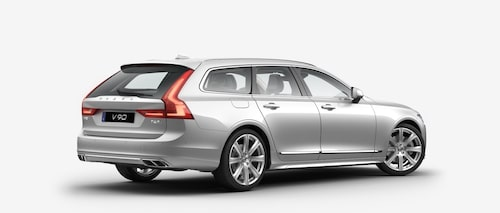 Volvo V90 T6 AWD 2017 Bright Silver Metallic