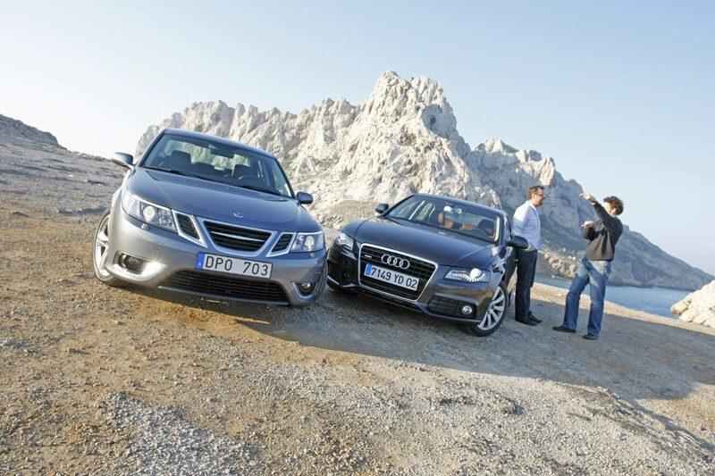 Saab 9-3 Aero XWD mot Audi A4 3,2 quattro