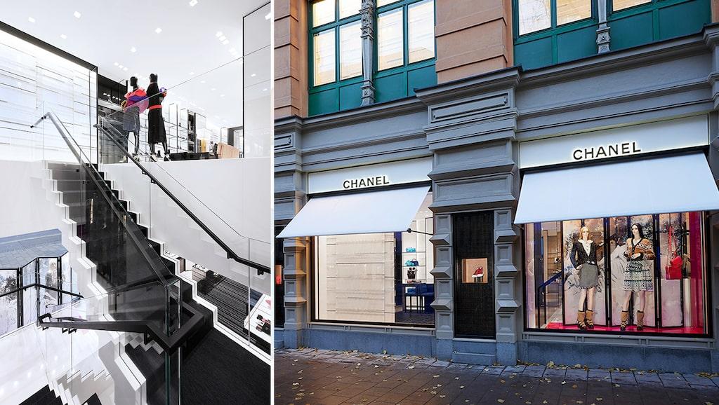 Chanel-butiken i Stockholm ligger på Birger Jarlsgatan 7.