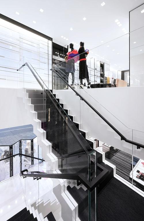 Chanel-butiken har två våningar.