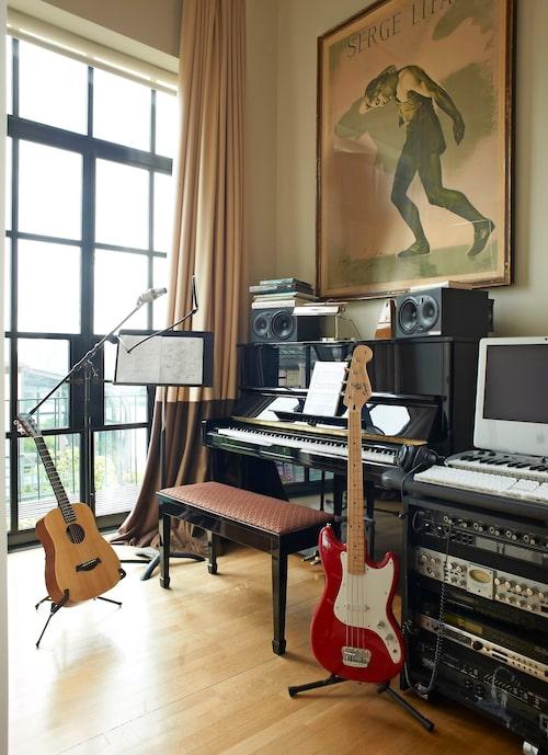 En stjärnas arbetsrum och ministudio.