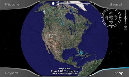 Google Earth finns också för första gången med i ett navigationssystem.