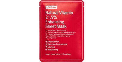 Recension på Natural vitamin 21.5 enhancing sheet mask från By wishtrend.