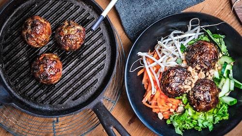 Recept på vietnamesiska köttbullar.