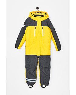Lindbergs overall finns i gult eller blått.