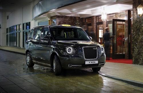 Nästa generation London-taxi, TX5, som ska byggas av Geely och vara försedd med laddhybridteknik från Volvo.