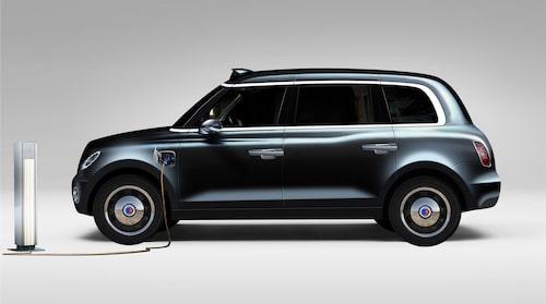 För att komma till rätta med Londons dåliga luftkvalitet ska taxibilarna (i dag en bra bit över 20 000 bilar) med start 2018 kunna köras på enbart el (åtminstone kortare sträckor). Därför kommer TX5 att ha laddhybridteknik från Volvo.