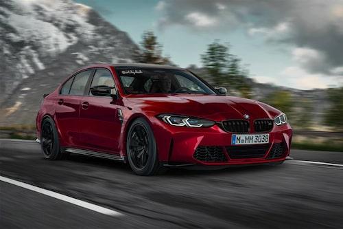 """När nya M3 läckte ut på nätet var många snabba på att retuschera bort gigantiska grillen till förmån för en """"vanlig"""" BMW-grill. Föredrar du denna front eller den med de stora njurarna som ses längre upp?"""