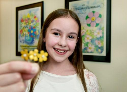 Elina Hall har designat årets majblomma.