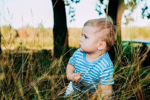 En eller två veckor efter att barnet har fått en fästing kan symtomen på TBE komma –om barnet haft oturen att bli smittat.