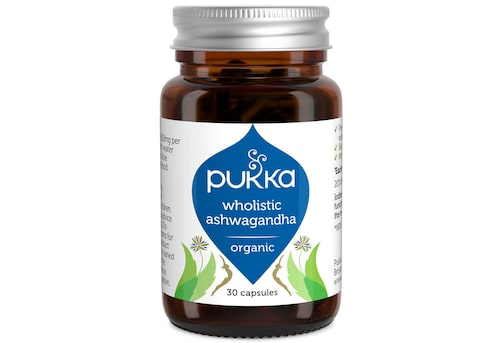 Kosttillskott Wholistic ashwagandha, 300 kr/ 60 kapslar, Pukka.
