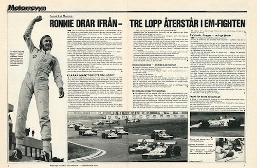Ronnie Petersons framgångar i Formel 2 i Teknikens Värld