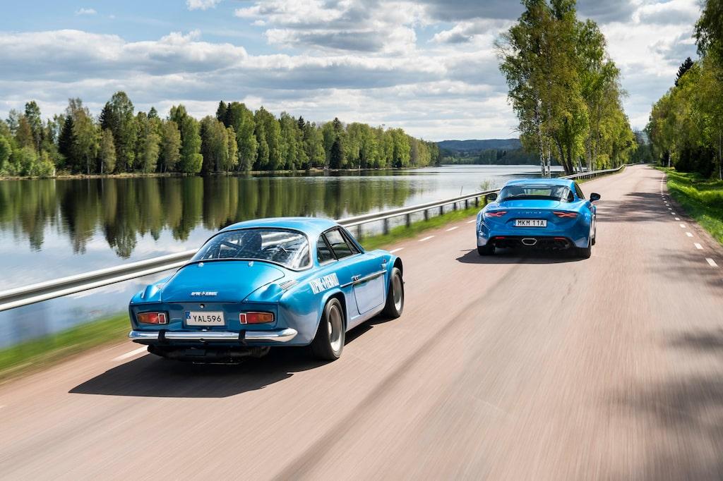Alpine A110 1600 S 1970 och A110 2019.
