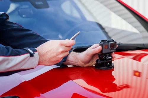 Jaguar F-Type SVR Coupé 2018 med ReRun-appen och GoPro-kamera