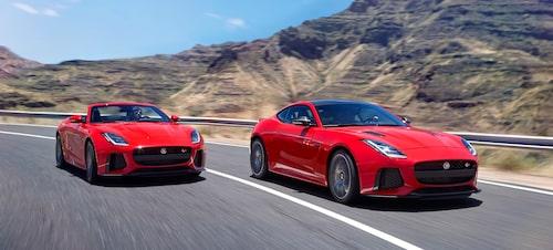 Jaguar F-Type SVR Cabriolet 2018 och Jaguar F-Type SVR Coupé 2018