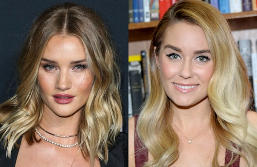 Rosie Huntington-Whiteley och Lauren Conrad.