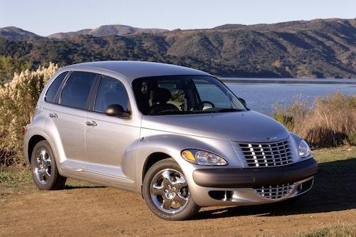 Chrysler PT Cruiser (2000-2010). PT Cruiser är något av en trendsättare. Efter denna amerikanska fullträff duggade retrobilarna tätt. Fanns även som cabriolet.