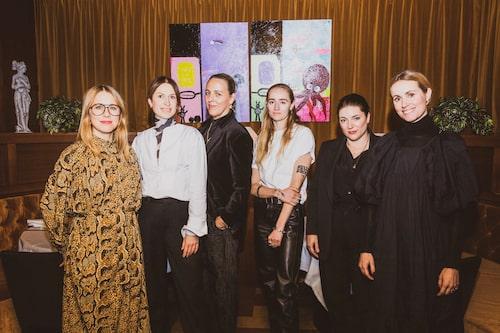 Carin Wester, Lisa Pettersson, Jonna Bergh, Silvana Iman, Maria Lindholm och Cecile Thorsmark.