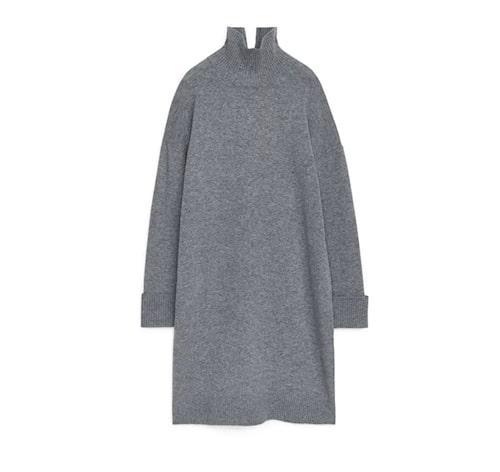 Stickad poloklänning i ull från Arket.