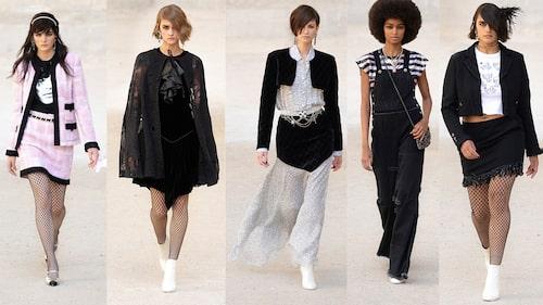 Nyckeltrender: Nätstrumpan, capen, boleron, snickarbyxan och korta kjolen.