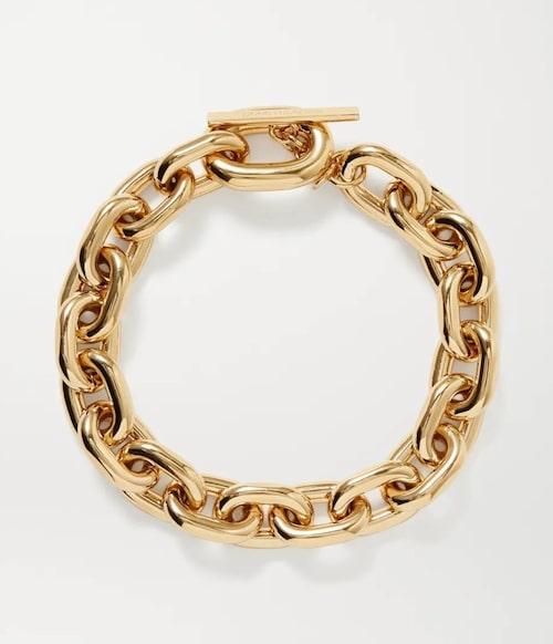 Guldig halskedja från Paco Rabanne.