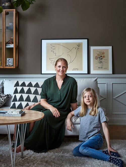 Emilie Camén och 11-årige sonen Sixten.