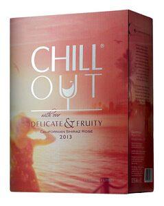 Rosévinet som vi dricker mest av är boxen Chill Out från Kalifornien