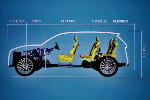 SPA, Scaleable Product Architecture, har fast mått mellan framaxel och pedalställ. Alla övriga mått är flexibla.