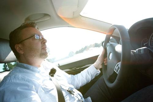 Hans Hedberg trivs när han får pressa systemet, klart sportig inställning från Saab.