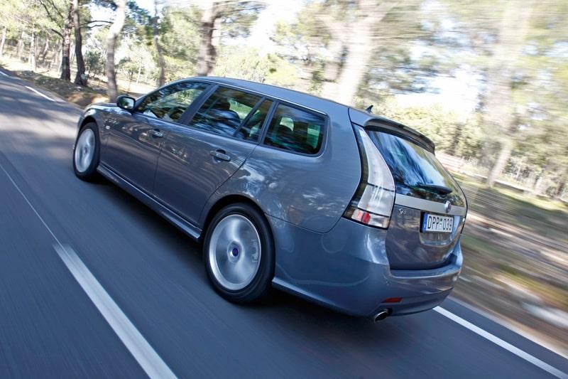 """Chassit är den stora skillnaden mellan Turbo X och Aero XWD där Turbo X har """"ultra sport""""-chassi, enligt Saab. Sänkt ytterligare 10 millimeter."""