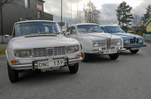 En trio exklusiva Saab-bilar. Numera har de hittat nya hem.